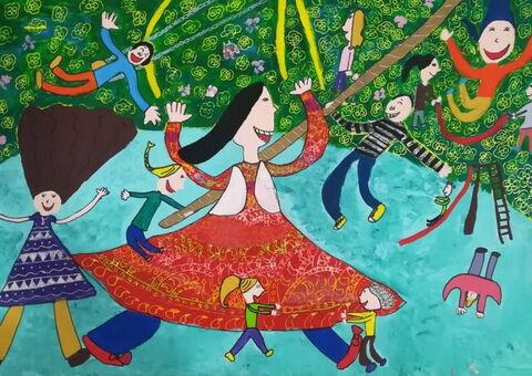 """""""Vania Shamsi"""" ,9, from Rafsanjan, Kerman"""