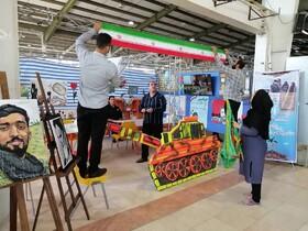 غرفه کانون استان کرمانشاه در نمایشگاه دفاع مقدس آغاز بهکار کرد
