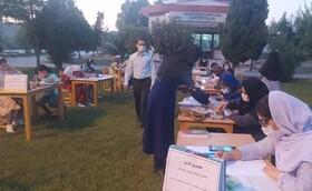 برپایی ایستگاه نقاشی هفته دفاع مقدس در مرکز فرهنگی هنری کانون مراوه تپه