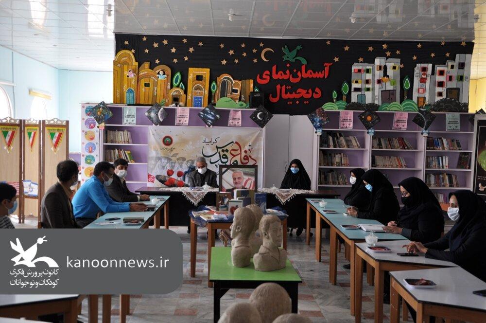 حال و هوای دفاع مقدس در سیزدهمین جلسه انجمن قصه گویی کانون خراسان جنوبی