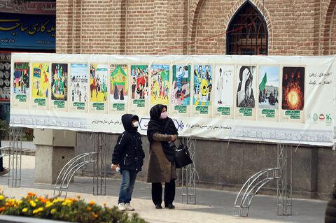 نمایشگاه خیابانی عکس«بچههای اربعین»؛ به مناسبت هفته ملی کودک