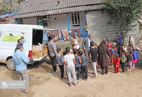 امداد فرهنگی کانون گیلان در روستاهای سیلزده شهرستان تالش