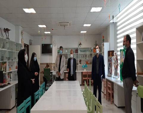 بازدید رئیس دانشکده دین و رسانه و همراهان از مرکز۱۰و مجتمع کانون استان  قم