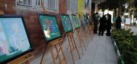 نمایشگاه آثار اعضای برگزیده کانون استان کرمانشاه در جشنوارههای بینالمللی نقاشی