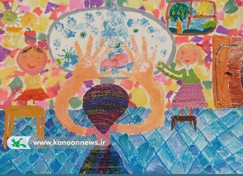 آثار برگزیده مسابقه بینالمللی نقاشی کودکان «دستهای پاک، نجاتبخش زندگی»