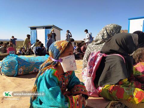 امداد فرهنگی کانون پرورش فکری در روستای گواتامک سیستان و بلوچستان
