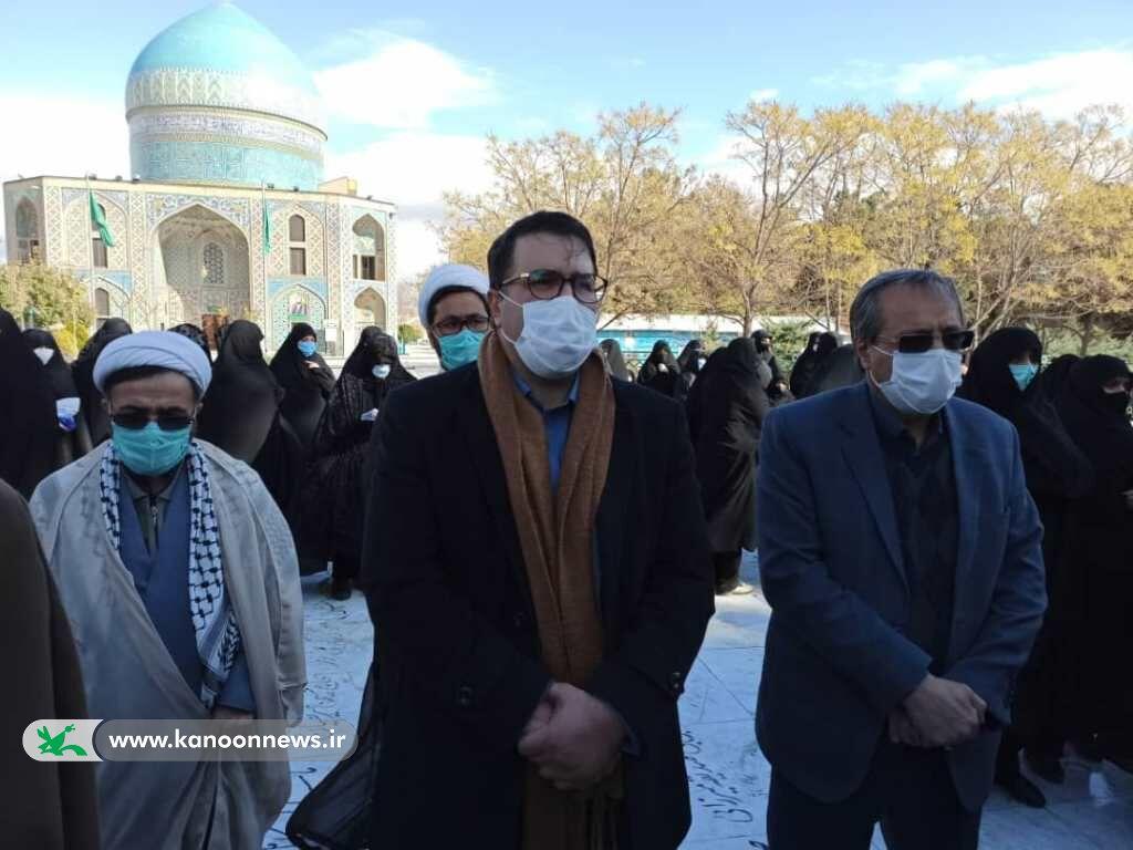 تدفین پیکر مرحوم حجتالاسلام راستگو در آرامگاه ابدیاش در مشهد