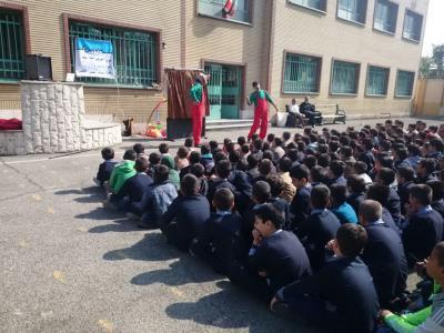 فرهنگسازی ترافیک در مدارس تهران با تئاتر کودک