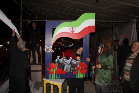 فعالیتهای کانون در مسیر راهپیمایی ۲۲ بهمن تهران