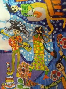 نقاشیها، زندگی بچهها را رنگ کردهاند