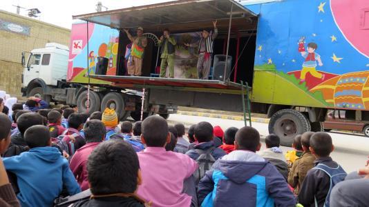 تریلی نمایش سیار کانون در استانهای ایلام، خوزستان و بوشهر